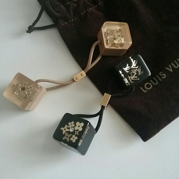 Louis Vuitton Accessories - Louis Vuitton Monogram Inclusion Hair Cubes Ties 70f909bb735